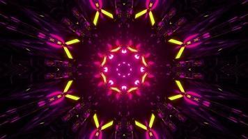 3D-Illustration des Neon-Ziertunnels foto