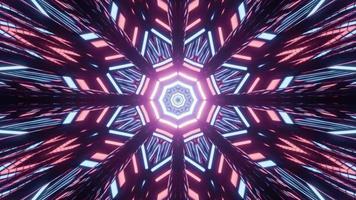 abstrakte 3d Illustration von leuchtenden poly eckigen Ornamenten foto