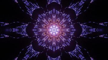 dekorative 3D-Illustration von geometrischen Leuchtmustern foto