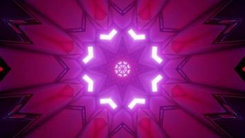 dekorative 3d Illustration des purpurroten Polywinkelmusters foto