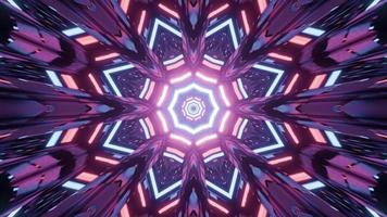 leuchtende abstrakte geometrische Verzierung 3d Illustration foto