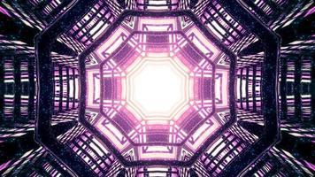 achteckiger abstrakter dekorativer Hintergrund mit Lichteffekt-3D-Illustration foto