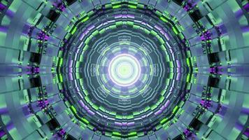 3d Illustration des endlosen Tunnels in Form des Kreises foto