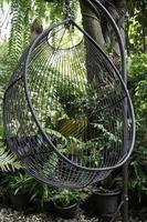 Stuhl im Garten foto