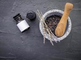 Kaffee und Lavendel foto