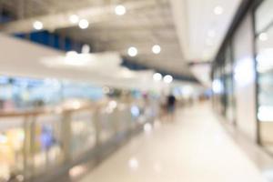 defokussiertes Einkaufszentrum Interieur