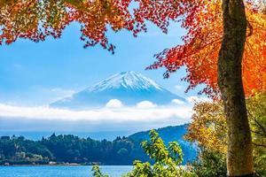 Landschaft bei mt. Fuji, Yamanashi, Japan foto