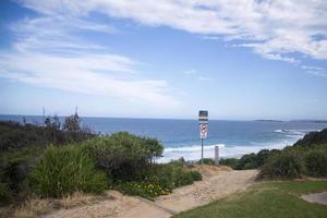australischer Strand in der Nähe von Sydney foto