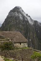 steinernes Haus in Machu Picchu, Peru foto
