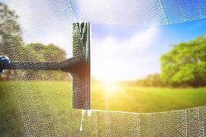 Fensterputzer zum Waschen foto