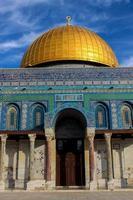 Kuppel des Felsens in Jerusalem foto