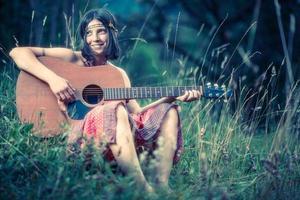 Hippie-Mädchen-Stil foto