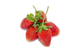 Gruppe von Erdbeeren foto
