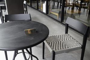 Rauchverbot auf dem Tisch foto