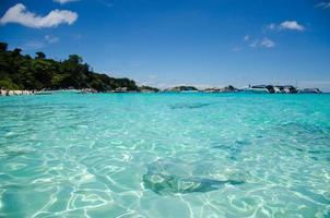 tropisches blaues Wasser