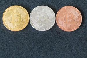 Bitcoin-Münzen, digitales Währungskonzept
