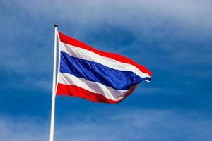 Flagge von Thailand foto
