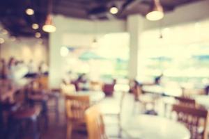 defokussiertes Café-Interieur foto
