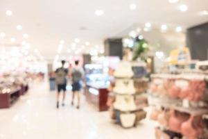 abstrakt defokussiertes Einkaufszentrum Interieur