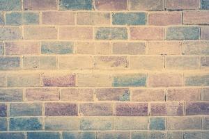 alter Vintage Backsteinmauerhintergrund foto
