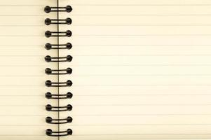 Nahaufnahme eines Notizbuchs foto