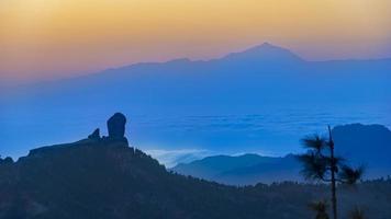 Berge auf dem Gipfel des Gran Canaria foto