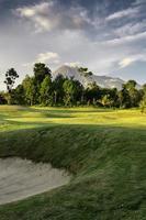 Naturlandschaftsansicht des Vulkanberges in yogyakarta, Indonesien foto