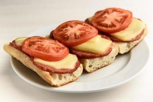 heiße Sandwiches mit Tomaten foto