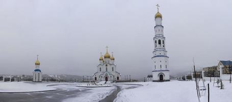 Kathedrale der Heiligen Dreifaltigkeit in Petropawlowsk-Kamtschatski, Russland foto