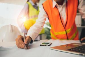 Ingenieur- oder Architektenplanung, Technologiekonzept foto