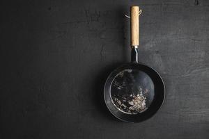 Draufsicht auf eine Kochpfanne foto