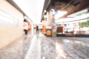 abstrakt defokussiertes Einkaufszentrum Interieur für Hintergrund
