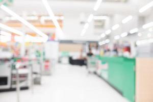 abstrakte defokussierte Supermarktinnenausstattung für Hintergrund