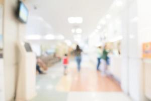 abstrakte defokussierte Krankenhausinnenausstattung für Hintergrund