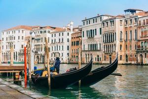 Venedig, Italien 2017 - Gondel auf dem Canal Grande von Venedig