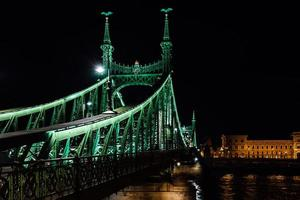 alte Eisenbrücke über die Donau in Budapest