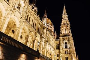 das ungarische parlament in budapest an der donau