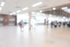 abstrakte defokussierte Flughafeninnenausstattung für Hintergrund foto