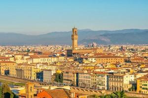 Blick auf die Skyline von Florenz von oben