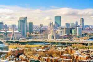 die Skyline von Boston in Massachusetts, USA