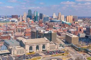 Ansicht der Skyline von Kansas City in Missouri