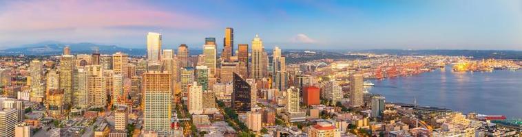 Seattle City Downtown Skyline Stadtbild in Washington State, USA