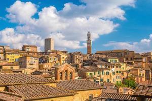 Innenstadt von Siena Skyline in Italien