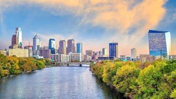 Skyline der Innenstadt von Philadelphia