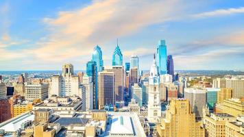 Draufsicht auf die Skyline der Innenstadt von Philadelphia