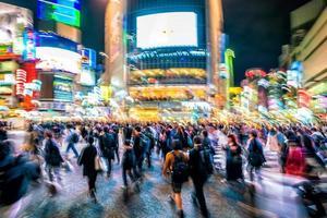 Fußgänger Zebrastreifen bei Shibuya Tokio foto