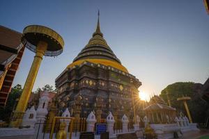 Wat Phra, dass Lampang Luang Wahrzeichen foto