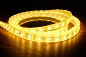 leuchtender LED-Streifen foto