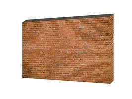 rote Backsteinmauer lokalisiert auf weißem Hintergrund foto