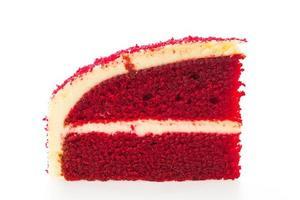 roter Samtkuchen lokalisiert auf weißem Hintergrund